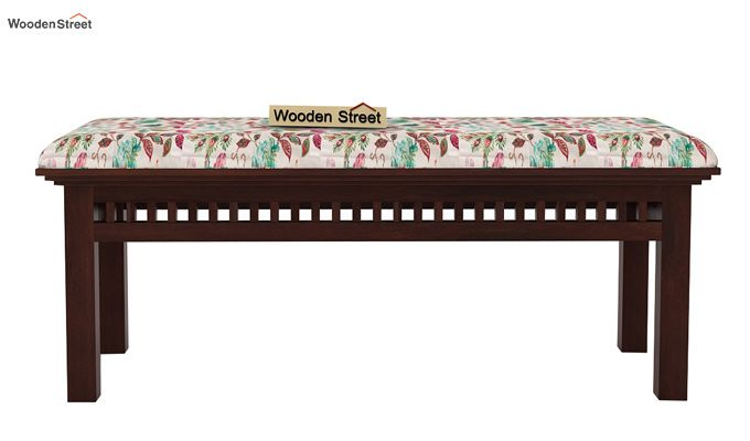 Adolph Bench (Walnut Finish, Rosy Leaf)-3