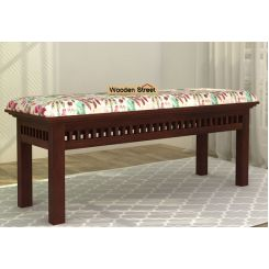 Adolph Bench (Walnut Finish, Rosy Leaf)
