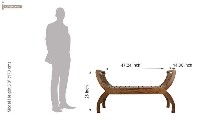 Adric Bench (Teak Finish)-3