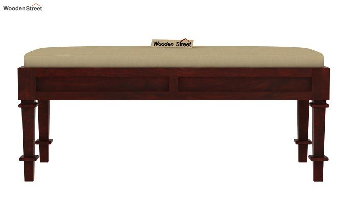 Agora Bench with Upholstery (Mahogany Finish)-2