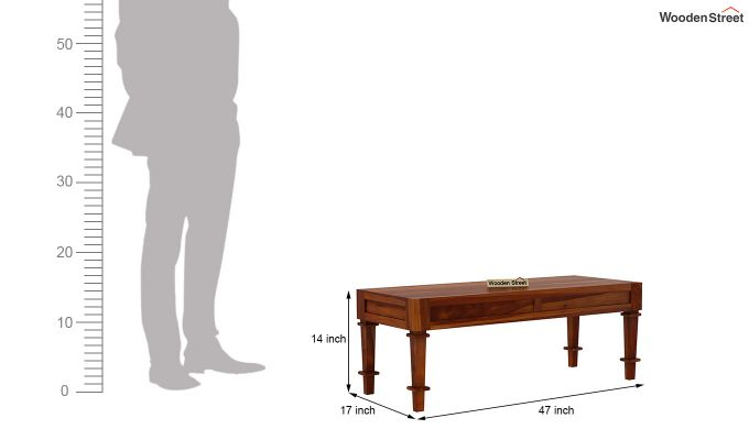 Agora Bench without Upholstery (Honey Finish)-5