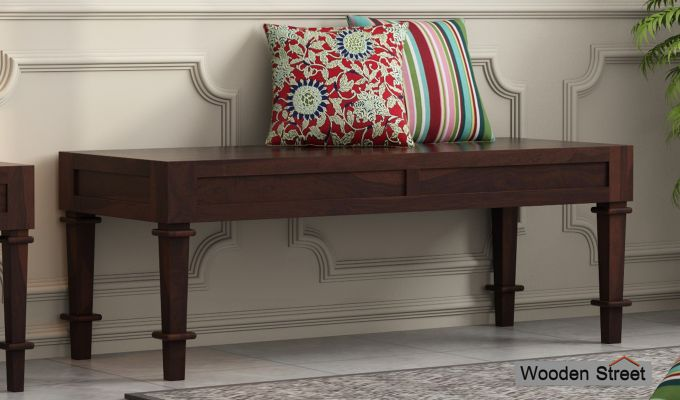 Agora Bench without Upholstery (Walnut Finish)-1
