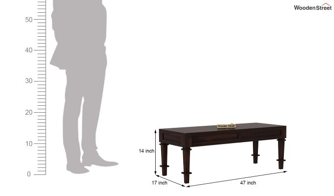 Agora Bench without Upholstery (Walnut Finish)-5