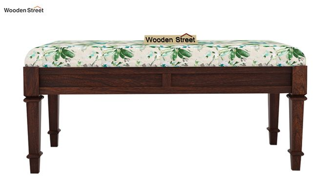 Ativan Bench (Walnut Finish, Aqua Flower)-3