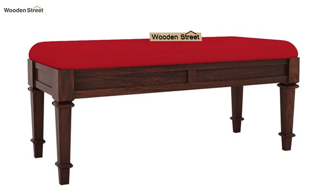 Ativan Bench (Walnut Finish, Dusky Rose)-2