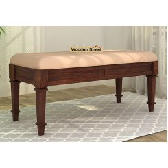 Ativan Bench (Walnut Finish, Irish Cream)