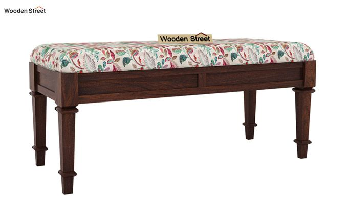 Ativan Bench (Walnut Finish, Rosy Leaf)-2