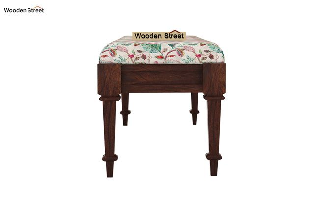 Ativan Bench (Walnut Finish, Rosy Leaf)-4