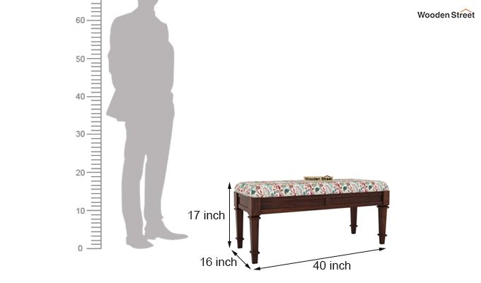 Ativan Bench (Walnut Finish, Rosy Leaf)-5