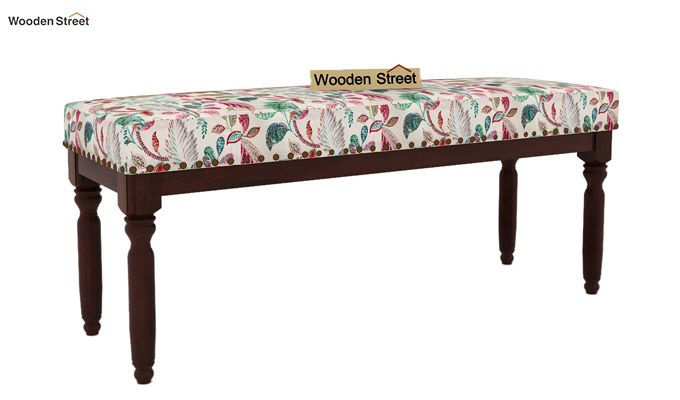 Aurelia Bench (Walnut Finish, Rosy Leaf)-2