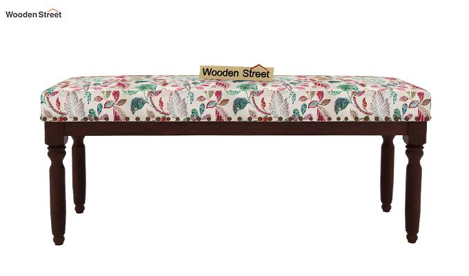 Aurelia Bench (Walnut Finish, Rosy Leaf)-3
