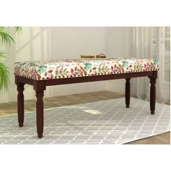 Aurelia Bench (Walnut Finish, Rosy Leaf)