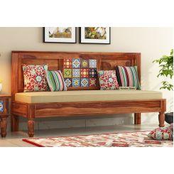 Boho Bench With Back Rest