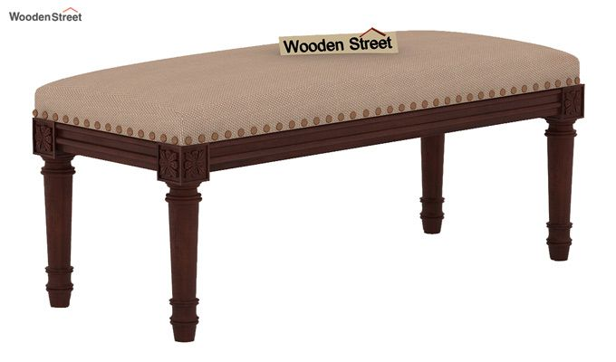 Boldova Bench (Walnut Finish, Irish Cream)-2