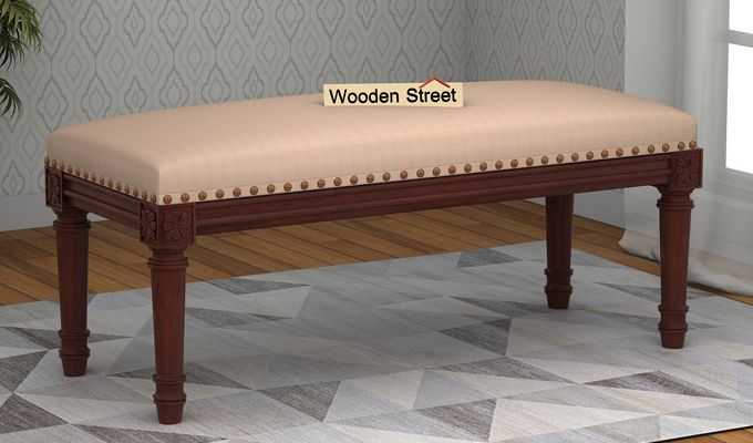 Boldova Bench (Walnut Finish, Irish Cream)-1