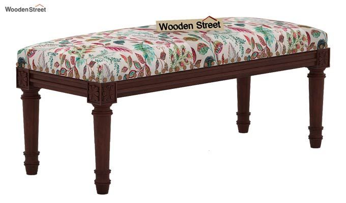Boldova Bench (Walnut Finish, Rosy Leaf)-2