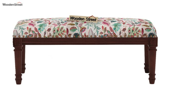 Boldova Bench (Walnut Finish, Rosy Leaf)-3