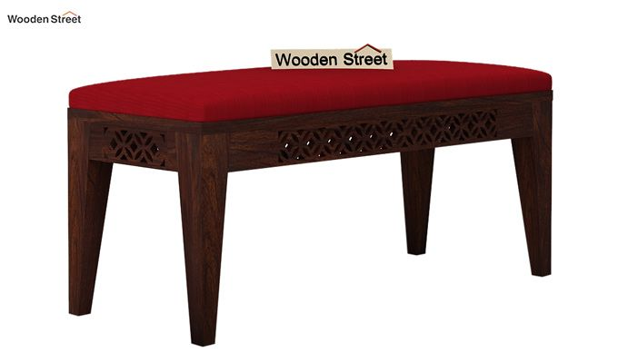 Cambrey Bench (Walnut Finish, Dusky Rose)-2