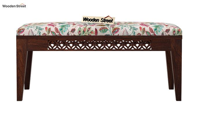 Cambrey Bench (Walnut Finish, Rosy Leaf)-3