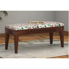 Cambrey Bench (Walnut Finish, Rosy Leaf)