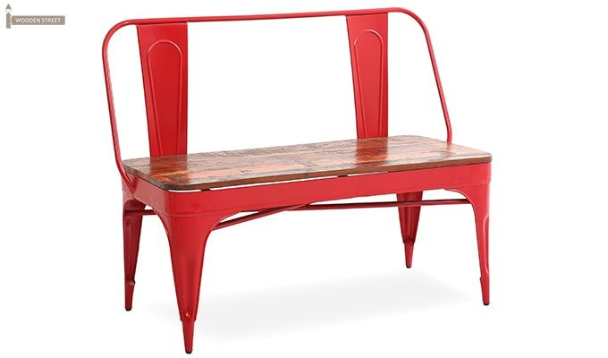 Chanin Iron Bench (Red)-1