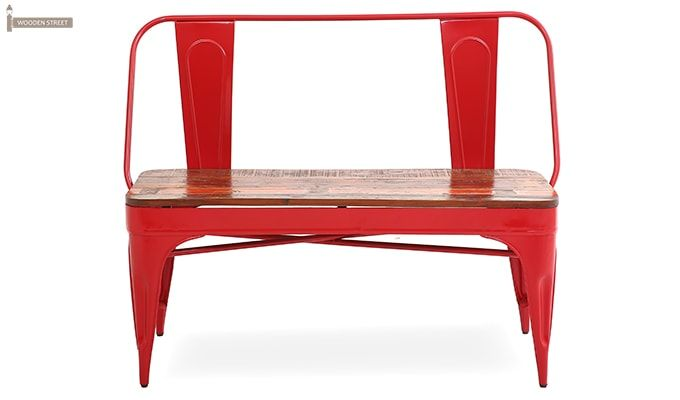 Chanin Iron Bench (Red)-2