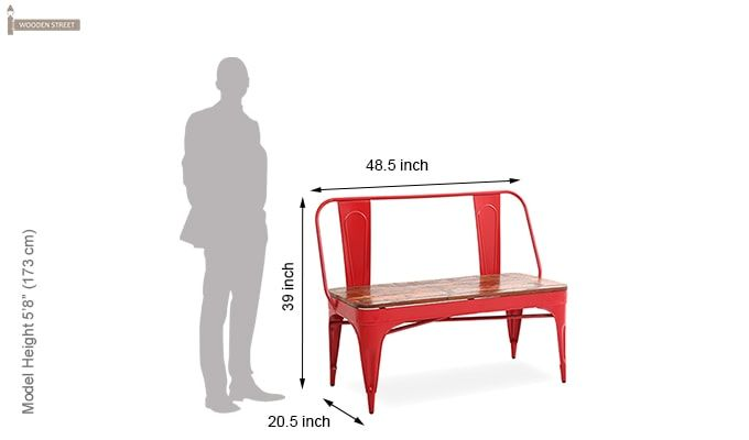 Chanin Iron Bench (Red)-5