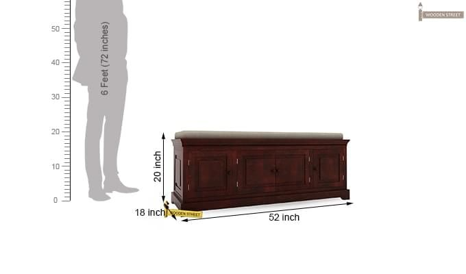 Charles Bench (Mahogany Finish)-3