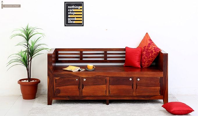 Christie Bench (Honey Finish)-1