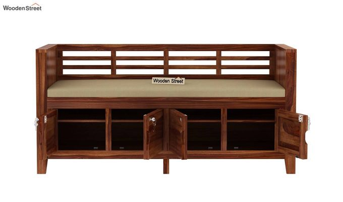 Christie Bench with Upholstery (Teak Finish)-6