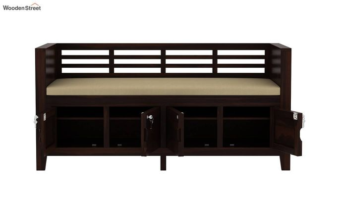 Christie Bench with Upholstery (Walnut Finish)-6