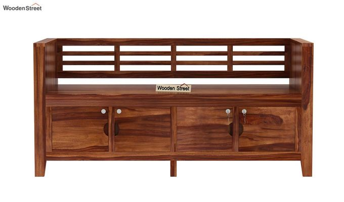 Christie Bench without Upholstery (Teak Finish)-3