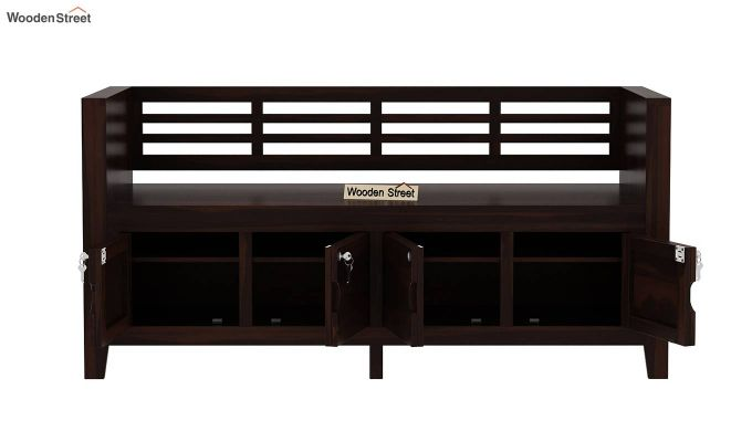 Christie Bench without Upholstery (Walnut Finish)-5
