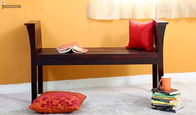 Delano Bench (Mahogany Finish)-1