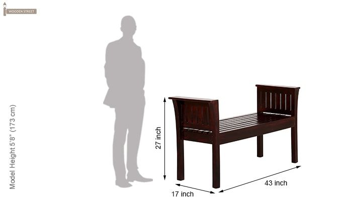 Delano Bench (Mahogany Finish)-5