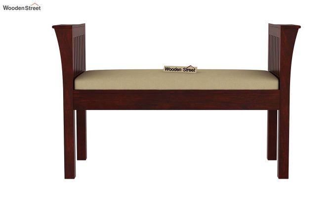 Delano Bench with Upholstery (Mahogany Finish)-2
