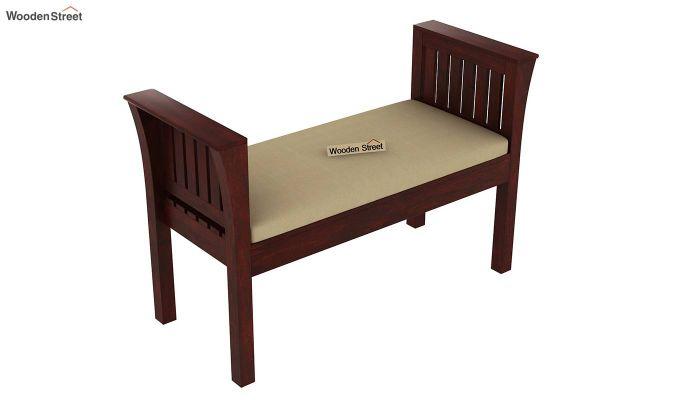 Delano Bench with Upholstery (Mahogany Finish)-3