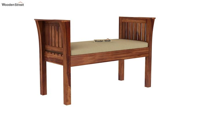 Delano Bench with Upholstery (Teak Finish)-2