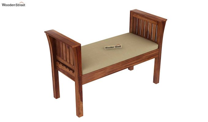Delano Bench with Upholstery (Teak Finish)-4