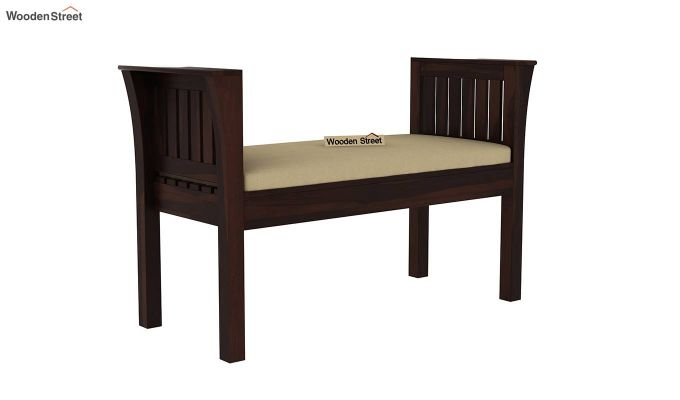 Delano Bench with Upholstery (Walnut Finish)-2