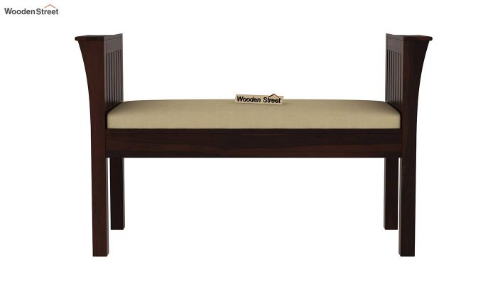 Delano Bench with Upholstery (Walnut Finish)-3