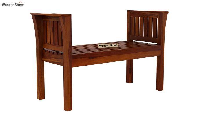 Delano Bench without Upholstery (Honey Finish)-3