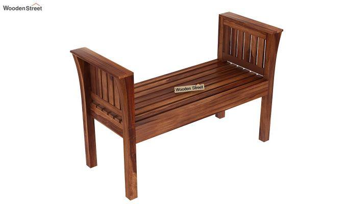 Delano Bench without Upholstery (Teak Finish)-5