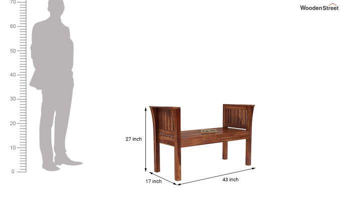 Delano Bench without Upholstery (Teak Finish)-6