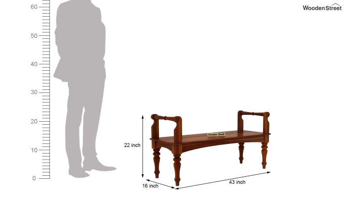 Dominic Bench without Upholstery (Honey Finish)-5
