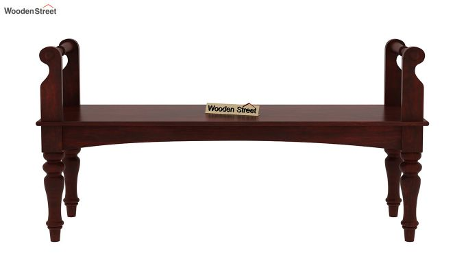 Dominic Bench without Upholstery (Mahogany Finish)-2
