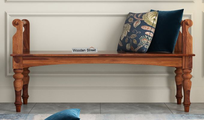 Dominic Bench without Upholstery (Teak Finish)-2