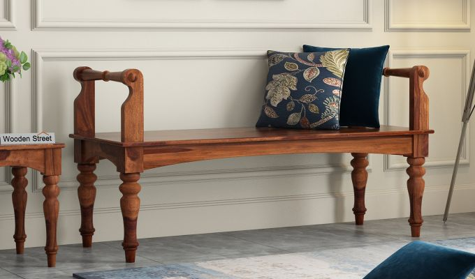 Dominic Bench without Upholstery (Teak Finish)-1