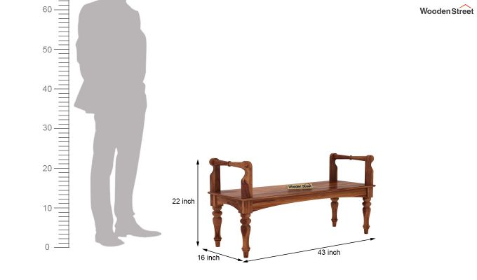 Dominic Bench without Upholstery (Teak Finish)-5