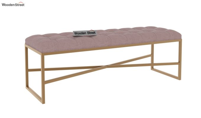Floss Cross-Legged Bench (Salmon Pink)-2